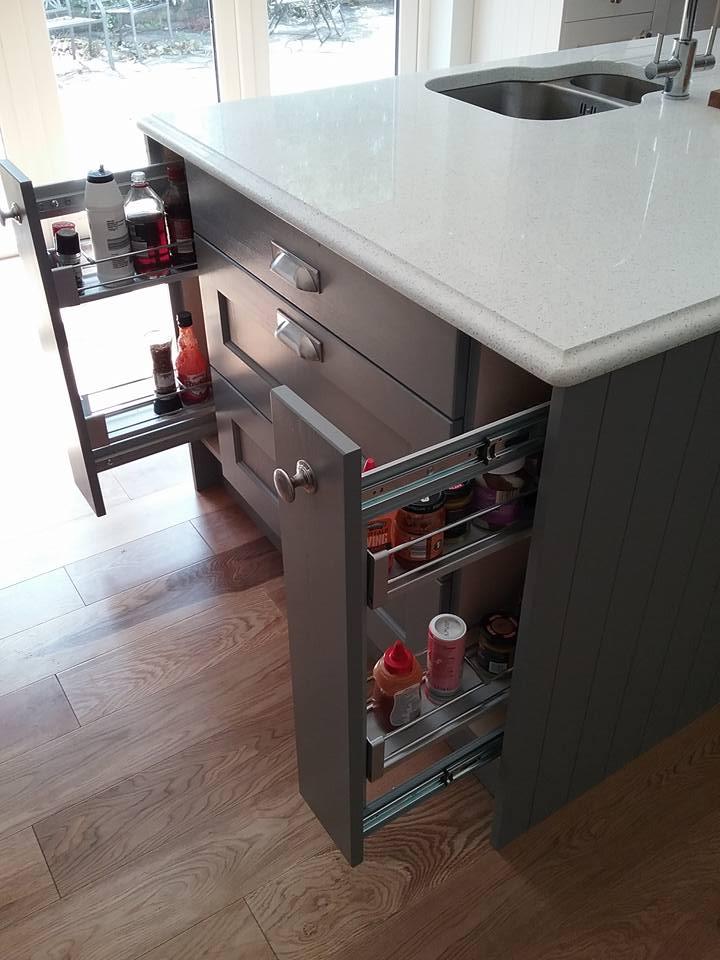 kitchen Island and storage cupboard